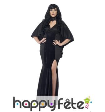 Déguisement vampire femme grande taille, noire