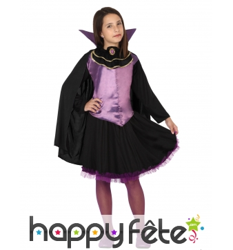 Déguisement violet noir de vampire pour fille