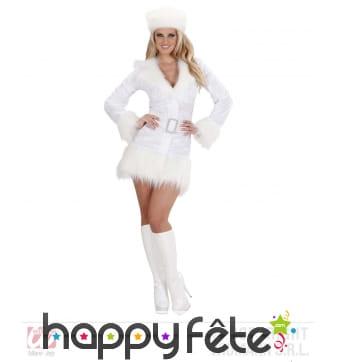 Déguisement white ruissian girl