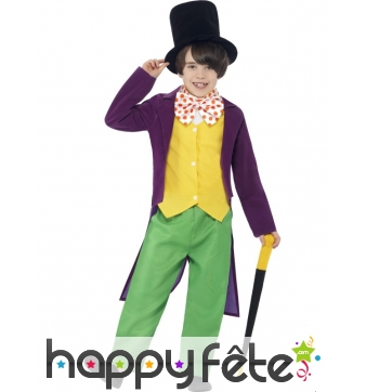 Déguisement Willy Wonka pour enfant