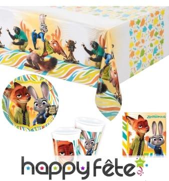 Déco Zootopie pour table d'anniversaire