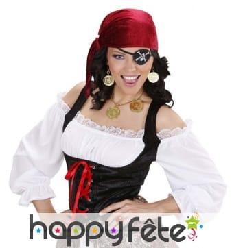 Ensemble bloucles d'oreilles et collier de pirate
