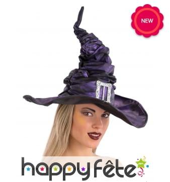 Elegant chapeau de sorcière plissé