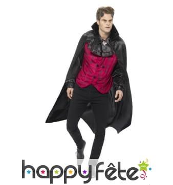Elégant costume de vampire avec cape pour homme