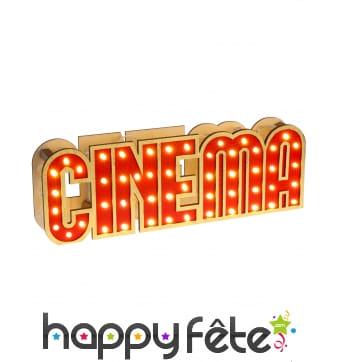 Ecriteau cinéma lumineux de table, 30cm