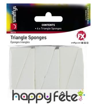Eponges cosmétiques triangulaires