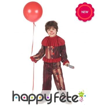 Ensemble de clown de Halloween pour enfant
