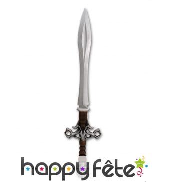 Epée de chevalier avec poignée crâne, 88cm