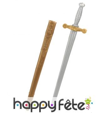 Epée de chevalier en plastique, 80cm