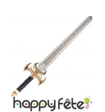 Epée de chevalier noire et dorée de 79 cm