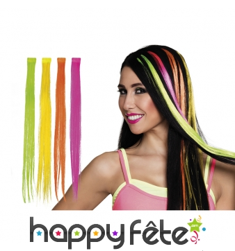 Extension de cheveux fluo, coloris variables