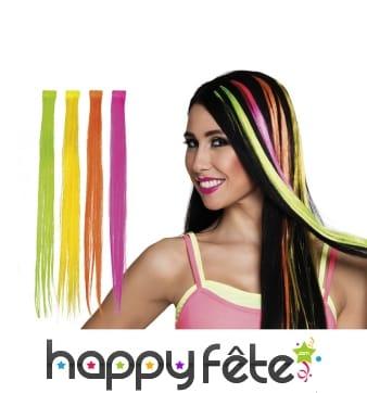 Extension de cheveux fluo, coloris variables