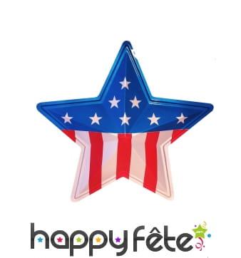 Etoile décorative drapeau Américain 40cm