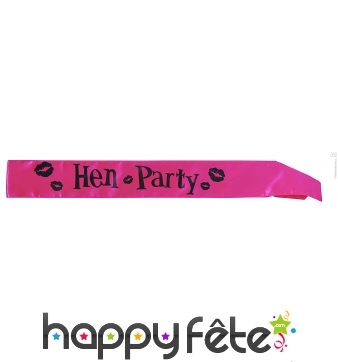 "Echarpe de miss ""hen party"""