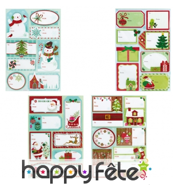 Etiquettes de Noël pour cadeau