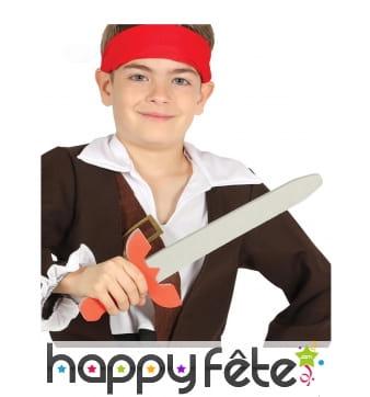 Epée de pirate en mousse de 57 cm