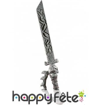 Epée dragon squelette de 79cm