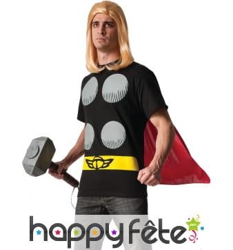 Ensemble de T-shirt avec cape de Thor pour homme