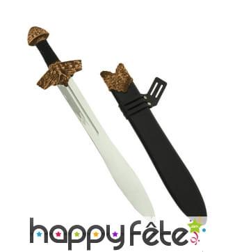 Épée de type viking avec fourreau, 60cm