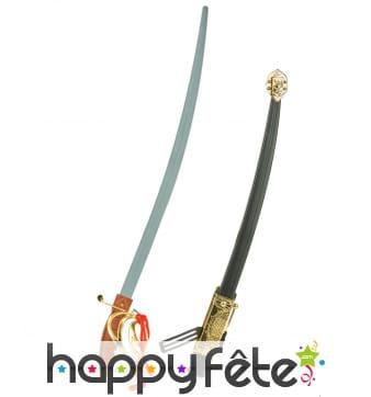 Epée en plastique avec fourreau, 68cm