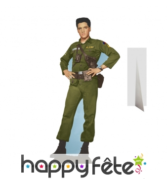 Elvis en tenue de militaire, carton taille réelle