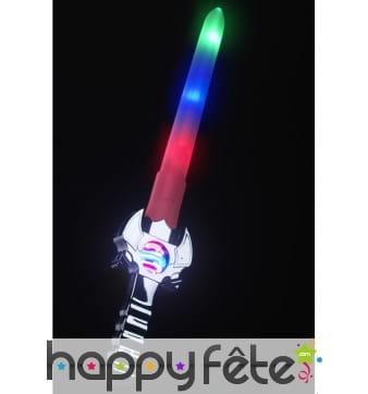 épée futuriste lumineuse