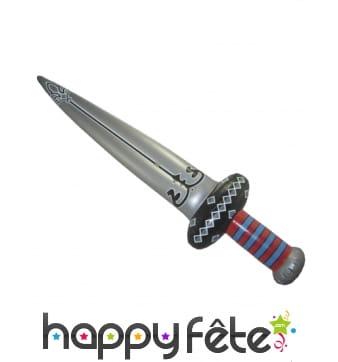 Epée grise gonflable de 122cm