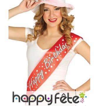 Echarpe Happy Birhday rouge