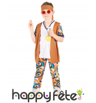 Ensemble hippie motifs années 60 pour enfant