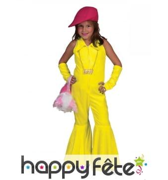 Ensemble jaune fluo disco pour enfant