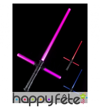 Epée lumineuse avec manche lumineux en croix