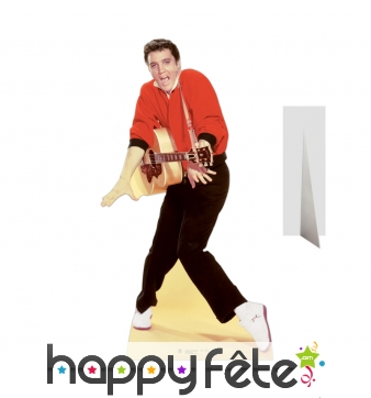 Elvis Presley amusant avec sa guitare, carton plat