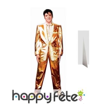 Elvis Presley en costume doré, taille réelle