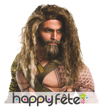 Ensemble perruque et barbe de Aquaman