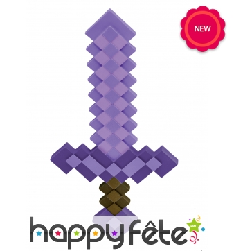 Epée pierre enchantée pour enfant, Minecraft
