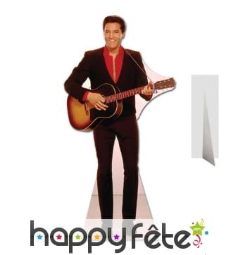 Elvis Presley taille réelle et sa guitare