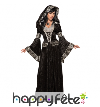 Elégante robe de sorcière médiévale