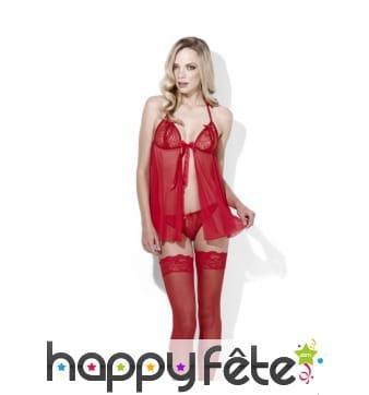 Ensemble sous-vêtements nuisettes rouges