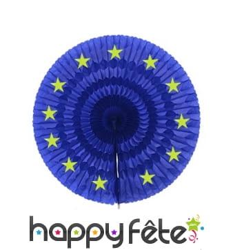 Eventail union européenne en papier