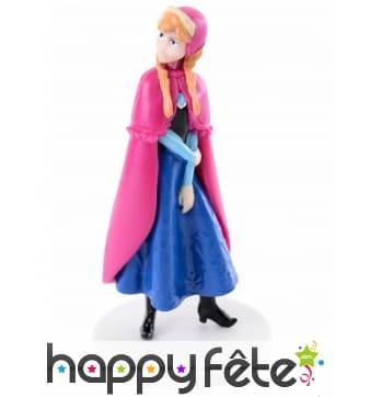 Figurine Anna la reine des neiges pour gâteau, 8cm
