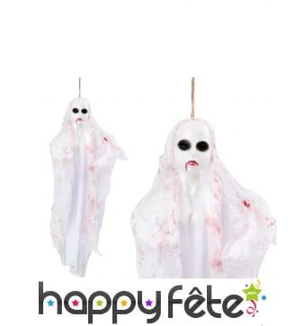Fantôme blanc à suspendre de 50 cm