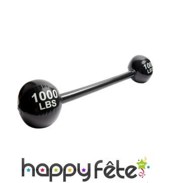 Fausse barre d'haltère gonflable 100LBS, 120cm