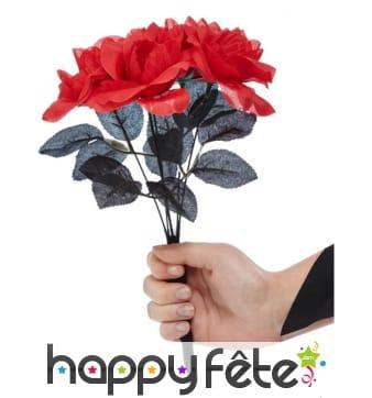 Faux bouquet de fleurs rouge et noir