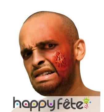 Fausse blessure multi cicatrices de visage