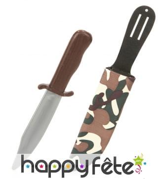 Faux couteau de l'armée avec étui camouflage