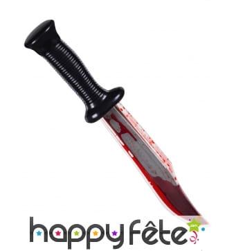 Faux couteau de Scream ensanglanté, 33cm
