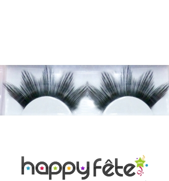 Faux cils jumbo noirs pointues
