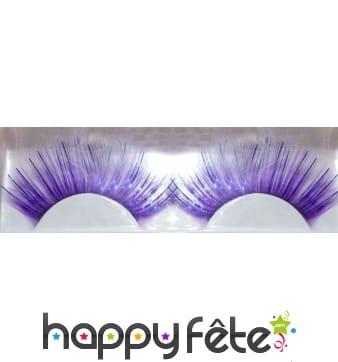Faux cils jumbo violet lame bleu