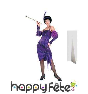 Femme charleston violette, taille réelle en carton