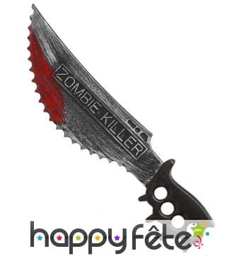 Faux couteau zombie killer de 51cm